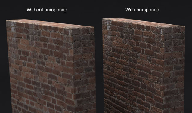 Bump mapping example.