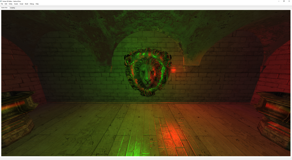 Point Lights in Vortex Engine 3.0's Deferred Renderer. Sponza scene Copyright (C) Crytek.